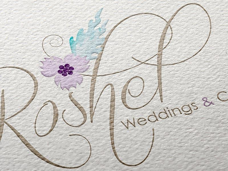 roshel wedding logo
